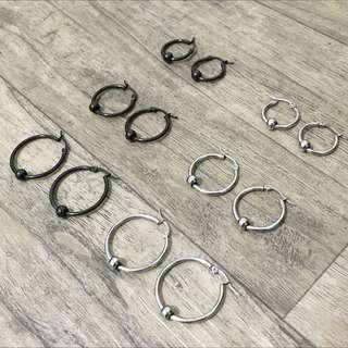 新款珠圈耳環