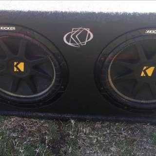 2x12 Kicker Subs + Amp