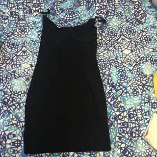 American Apparel Size M Black Dress With Bustier