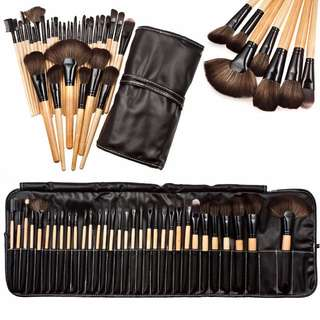 32pcs wood make up brushes set