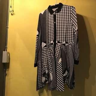 設計師款格菱紋連身裙
