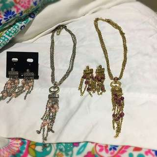Hippie Style Necklace And Earrings