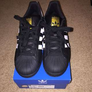 Adidas Superstars Black/White - Mens Size 9.5