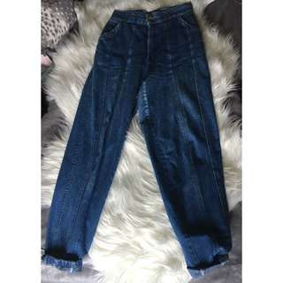Authentic 1970s Vintage High Waisted Jeans