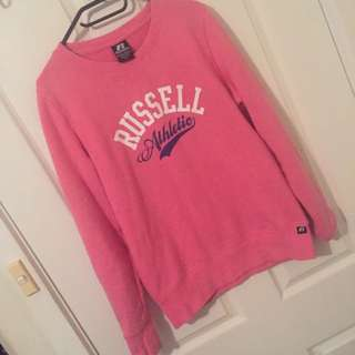 Russell Athletics Pink Jumper