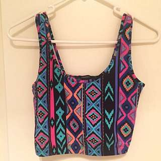 NEW Forever21 Aztec Crop
