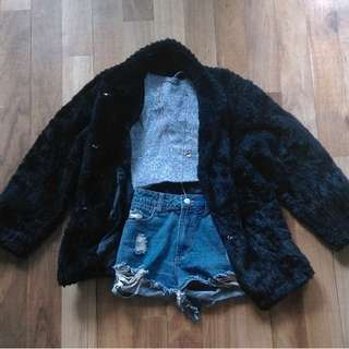 Vintage Black Fur Coat