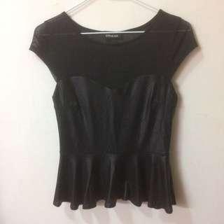 美國專櫃購入 BeBe 透視上衣 黑色上衣