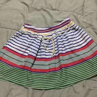 Multicolor Stripes Mini Skirt