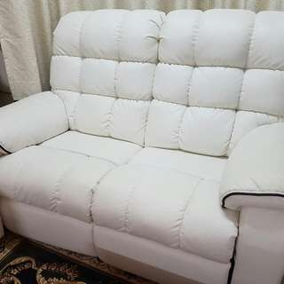 (RESERVED) 2 Seater Leather Recliner Sofa