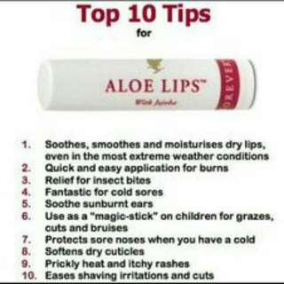 (PO) Forever Living Aloe Lips (Lip Balm)