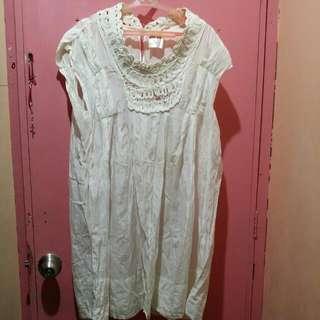 Mini Off White Dress Size L