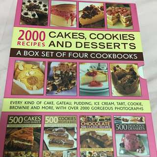 A box set of four cookbooks