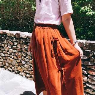 🏮暗橘仙女雪紡長裙