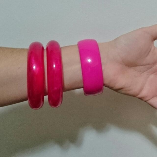 3 Pink Bangles