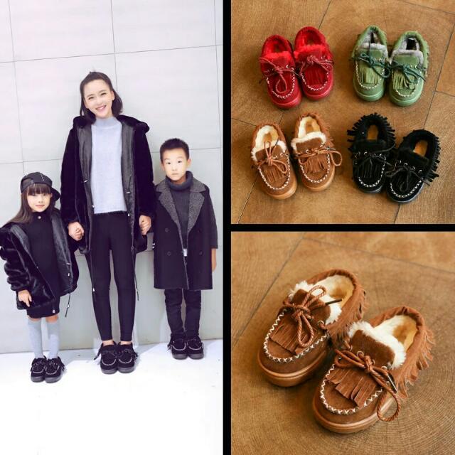親子鞋,保暖豆豆鞋