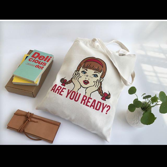 雀斑女孩/單肩包/帆布包/購物袋/