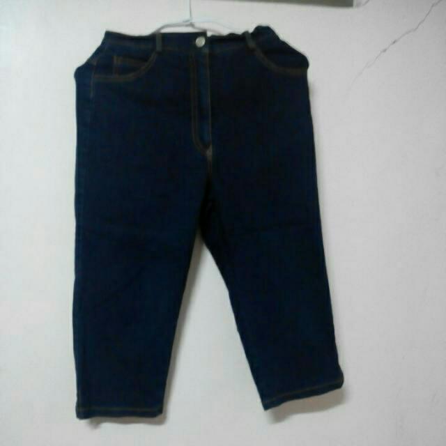 七分長牛仔褲