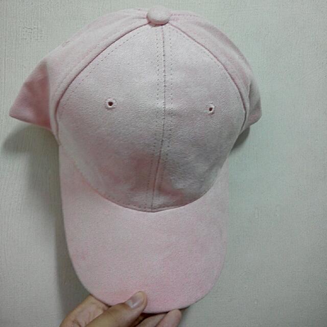 全新 麂皮粉色老帽