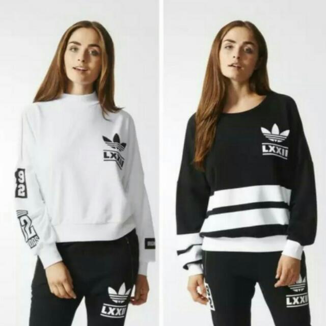 全新正品 Adidas 范冰冰同款 LXXII柏林系列 長褲領口系列長袖tee 愛迪達