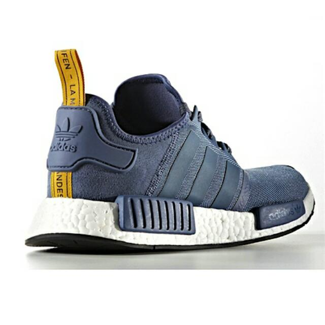 bff46a7a8 Adidas NMD R1 Tech Ink   Yellow Stripe S31514
