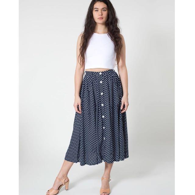 American Apparel Polka Dot Skirt Size S