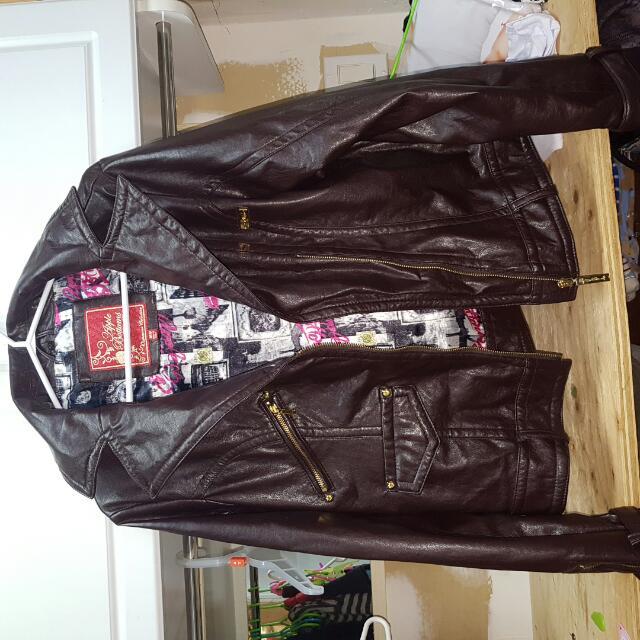 Authentic Apple Bottom Leather Jacket