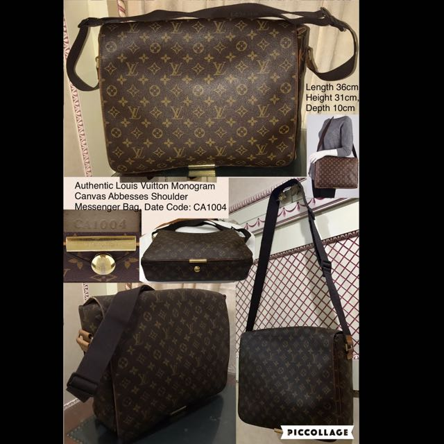 R-Authentic Louis Vuitton Monogram Canvas Abbesses Shoulder Messenger Bag 7ebe8bd06e701