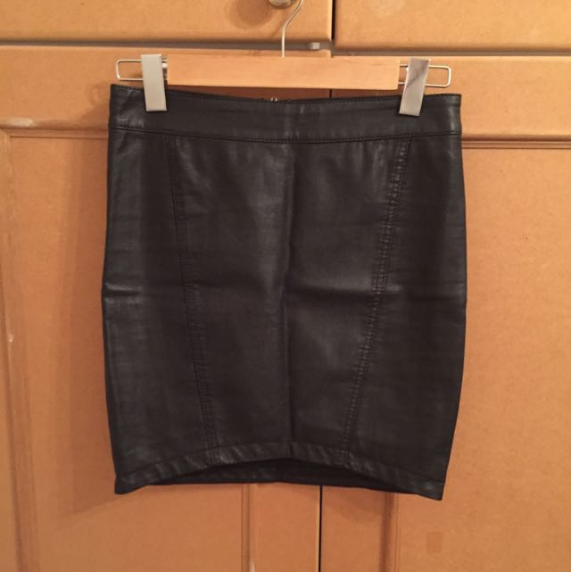 Bardot Pleather Skirt