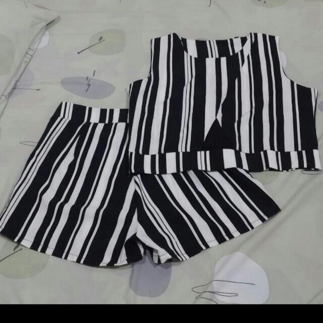 Black And White Top + Short
