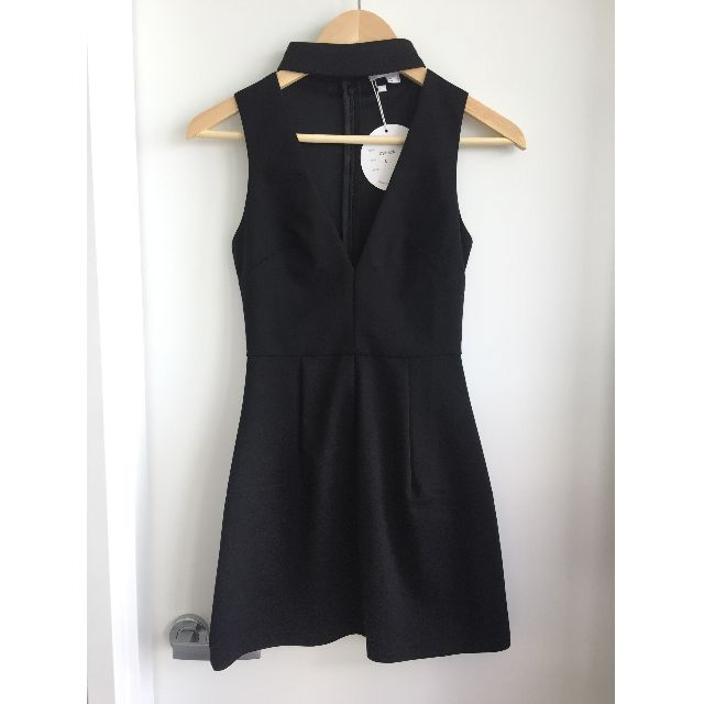 Black choker dress size 6