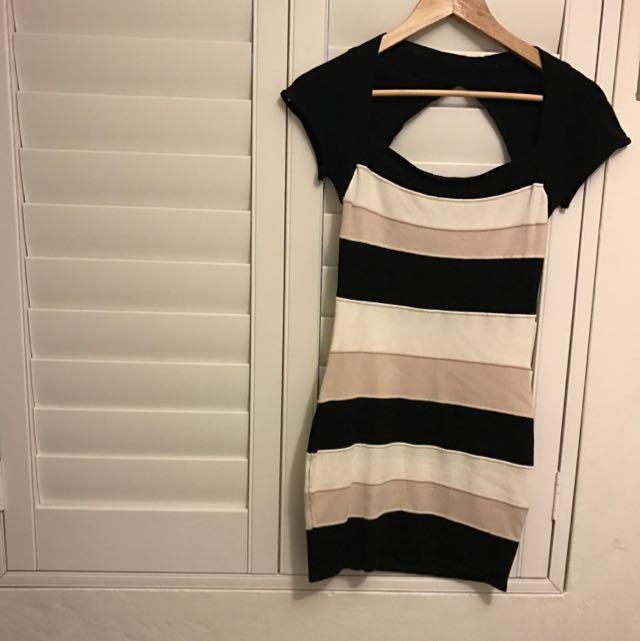 Blockout Genuine With Beige, Cream & Black Stripes