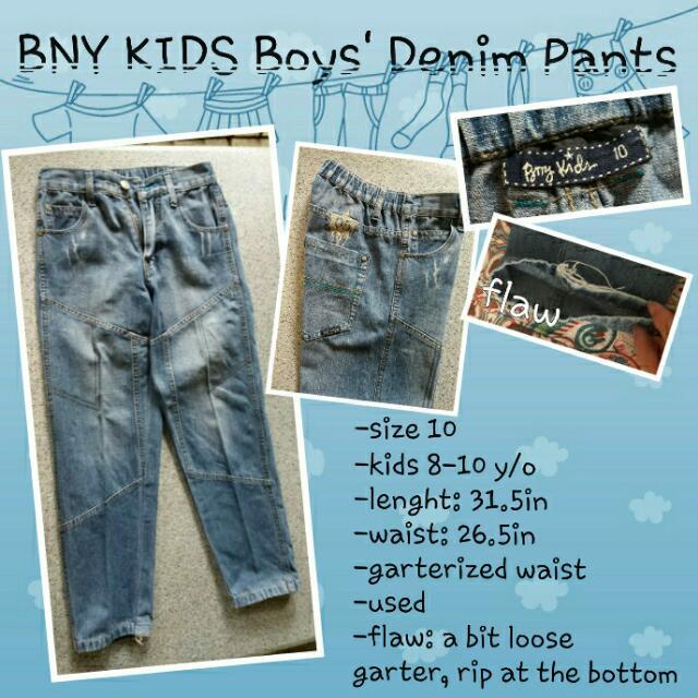 BNY KIDS Boys' Denim Pants