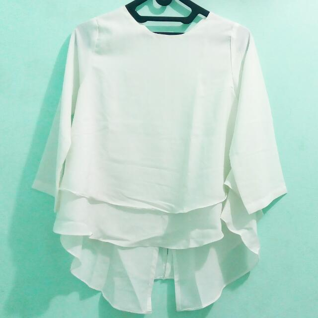 Broken White Layered Blouse Unbranded