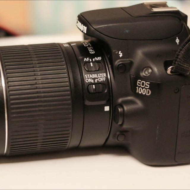 Canon 單眼 100D 可錄影 附55-250mm鏡頭