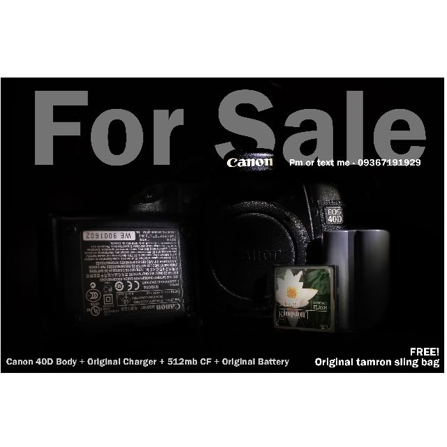 canon DSLR 40d body only