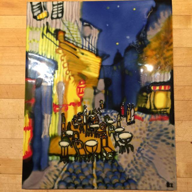 Ceramic Art - Van Gogh Cafe Terrace At Night