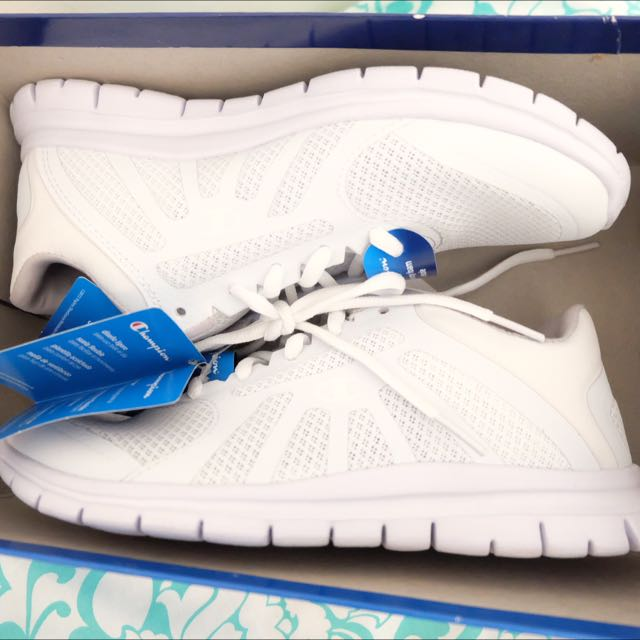 7912a45a523802 Champion White Gusto Running Shoes From Payless