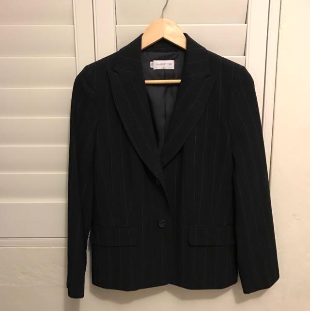 Club Petites Genuine Black Pin Striped Jacket