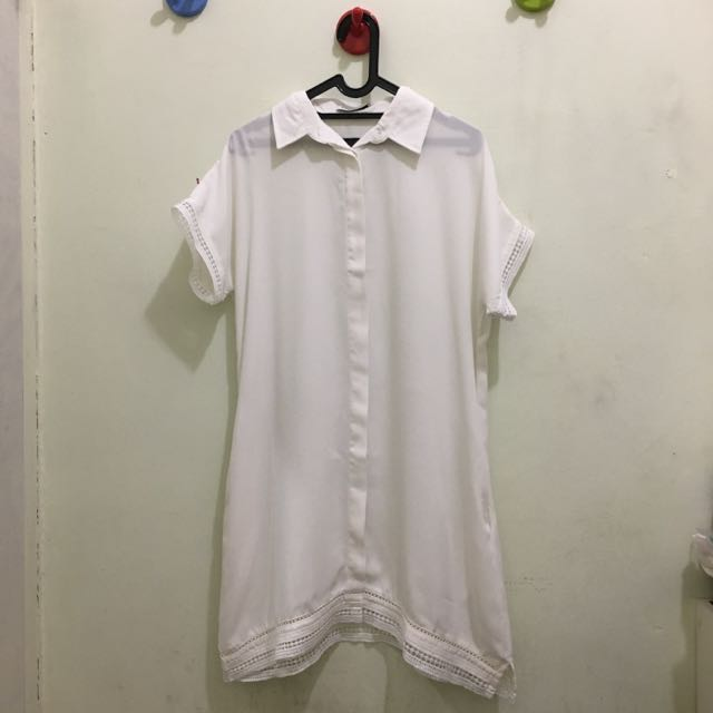 COTTONINK Offwhite Dress