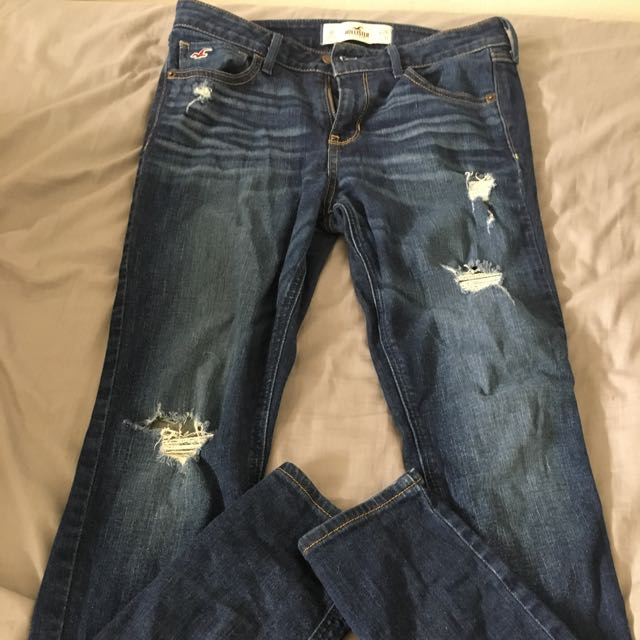 Dark Ripped Hollister Jeans