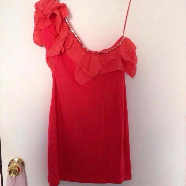 Dazzling One Shoulder Dress