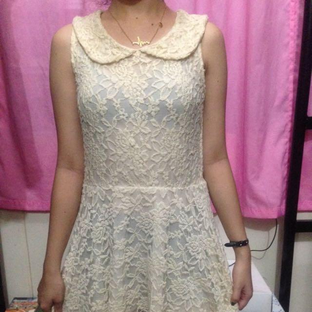 Dirty White Lace Dress