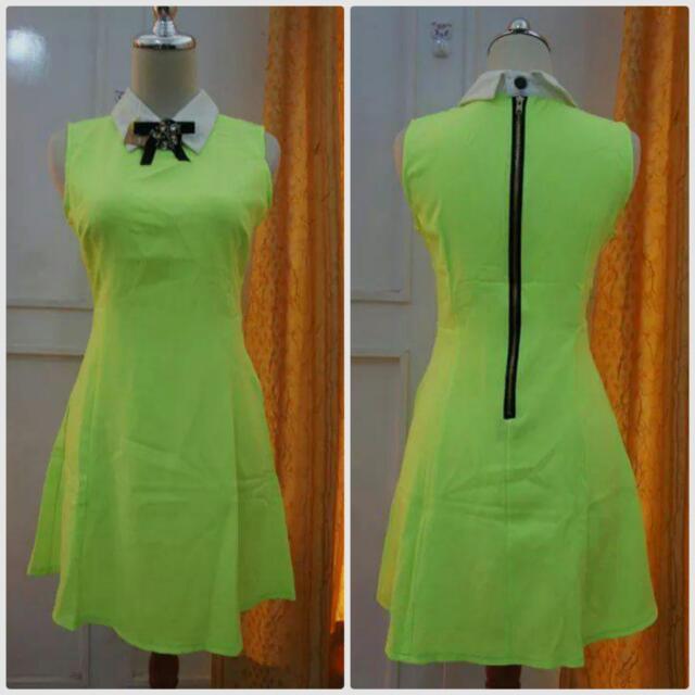 Dress Ijo Neon