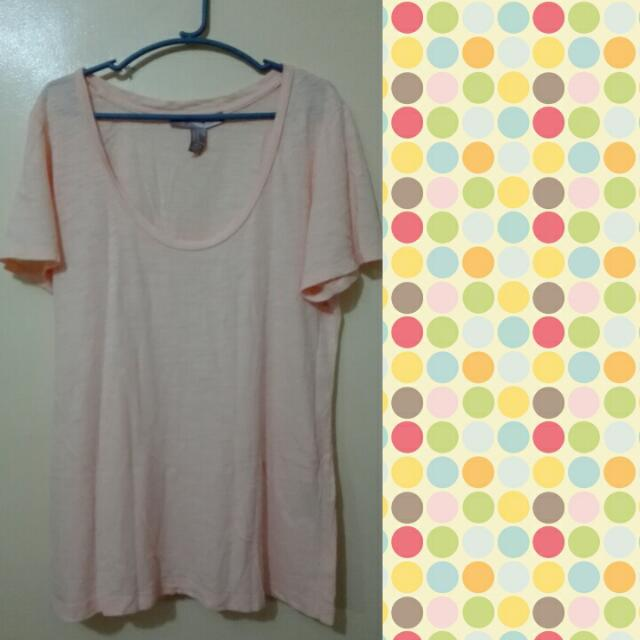 F21 Light Orange/Peach Tee