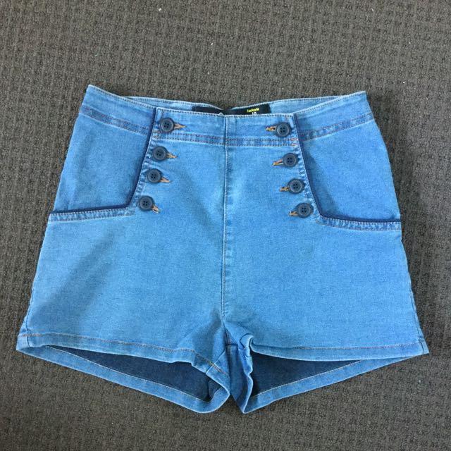 Factorie High Rise Denim Shorts
