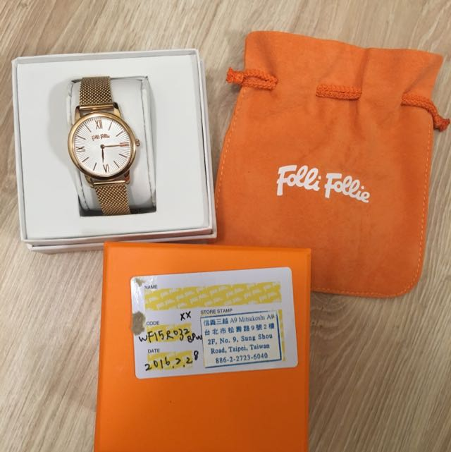 Folli Follie 玫瑰金手錶 Match Point 系列