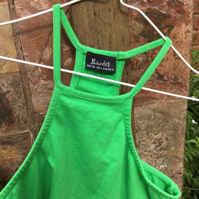 Green Bardot Halter Top