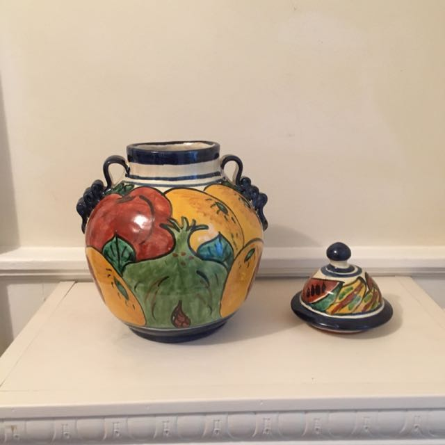 Handmade Fruit Painted Container