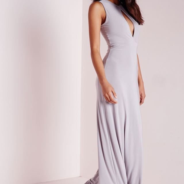 Ice Grey Long Dress